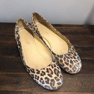 Garnet Hill Size 7.5 Leopard Print Ballet Flats